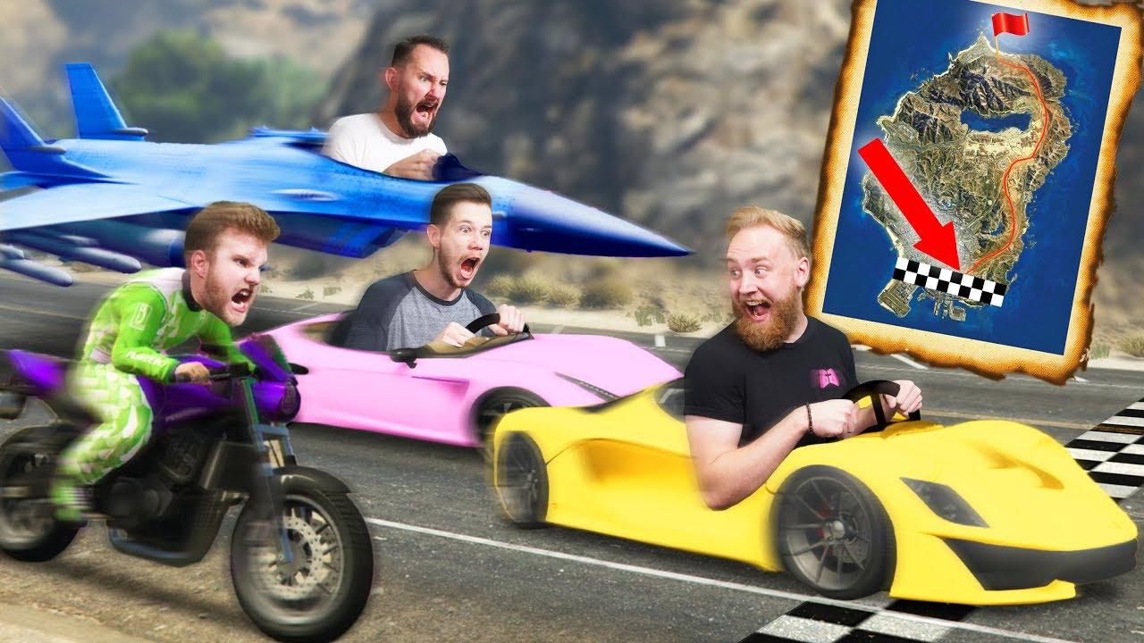 RACING ACROSS THE MAP! | GTA5 - YouTube