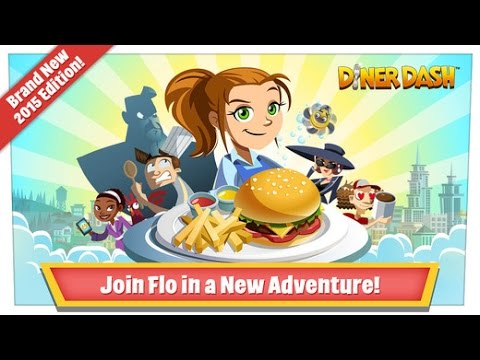 Diner Dash  2015 - Levels 1-3 ITA - Free IOS/Android App [Gameplay And Trailer On IPAD Mini]