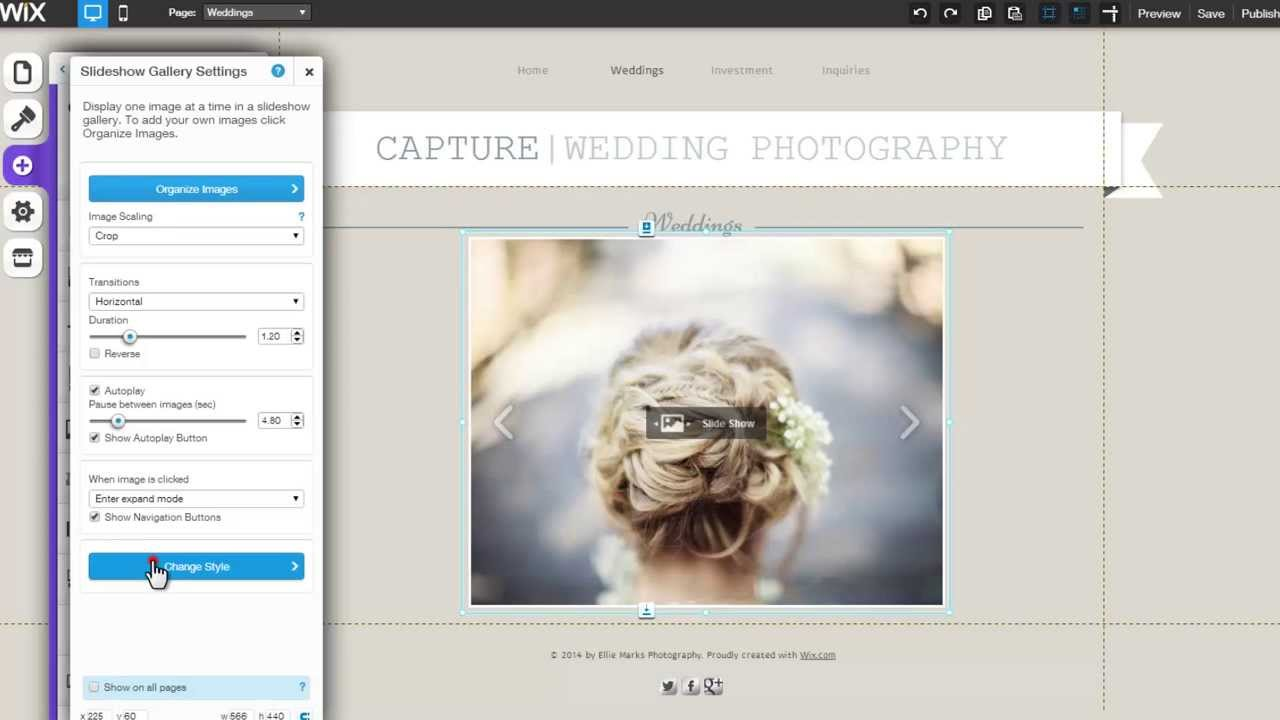 Html website builder adding a slide show gallery to your wix com website