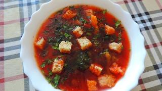 Как вкусно приготовить Свекольник с зелёным горошком и брокколи. Beetroot soup with broccoli  peas.