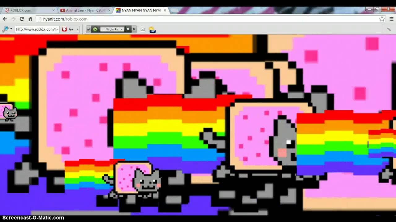 NYAN CAT TAKES OVER ROBLOX/THE WORLD!!!!! The Astonishing