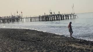 Турция Октябрь Раннее утро Турция Море и Пляж Отеля Bayar Garden Beach HV1 Konakli Alanya