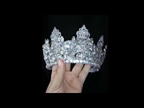 How to make wedding crystal crown - DIY (1)