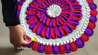 Akshaya Tritiya Special Rangoli Designs जो आप भी बना लेंगे त्यौहार पर बनाये रंगोली by Sneha J