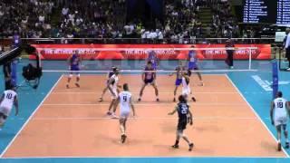 Ivan Kostic-Setter- Blue No.5(World League  SRB-ITA 27/06/2015)