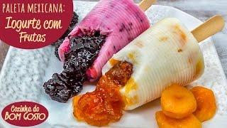Paleta Mexicana com Copos Descartáveis – Iogurte com Geléia de Frutas