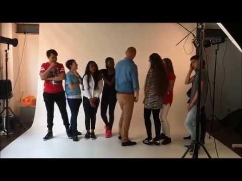 Fotoshoot met VMBO-leerlingen van het STC