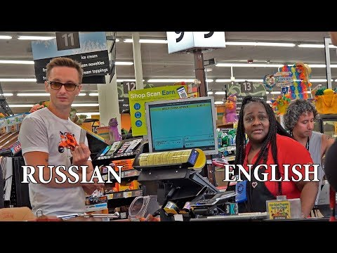 Talking Russian In American Stores. Prank