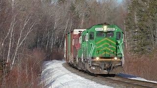 NBSR 6332 leads 907 West on the McAdam & Mattawamkeag Sub 3/19/19