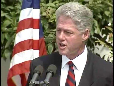 President Bill Clinton Welfare Reform Legislation 1996