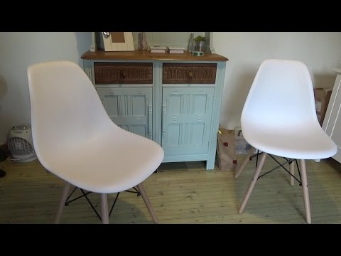 VECELO Eames Style DSW Eiffel Plastic Retro Dining Chair Review