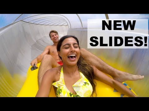 TESTING THE CRUISE SHIPS CRAZY NEW WATER SLIDES !