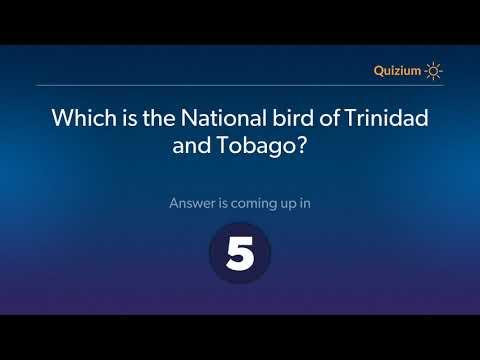 Which is the National bird of Trinidad and Tobago?   Trinidad and Tobago Quiz