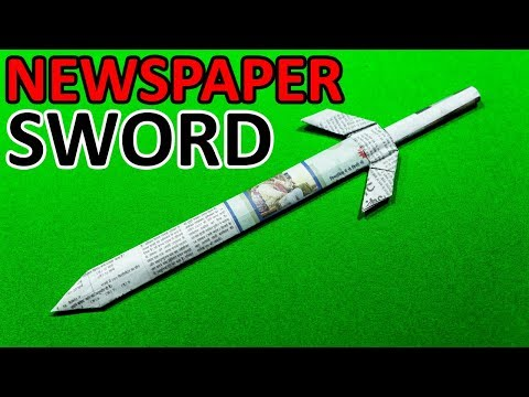How To Make a Paper Sword | Paper Sword Making Using Newspaper (Ninja Sword  - EASY)