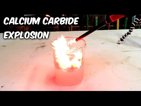 Calcium Carbide And Water Experiment