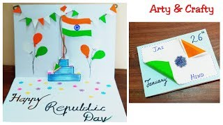Republic Day Card Making | DIY Republic Day Greeting Card | Republic & Independence Day Craft Ideas