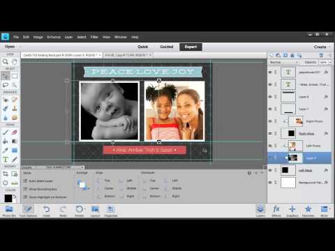 Editing Templates in Photoshop Elements