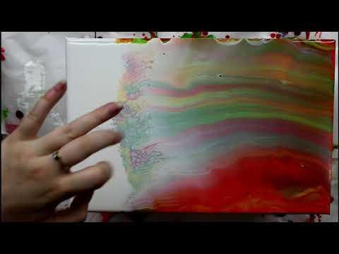 Fluid Acrylic Painting - Tri-Art Pouring Medium Testing! Simple Swipe Technique