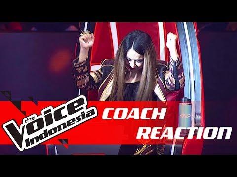Lho!! Coach Titi DJ Kenapa? 😱   COACH REACTION   The Voice Indonesia GTV 2018