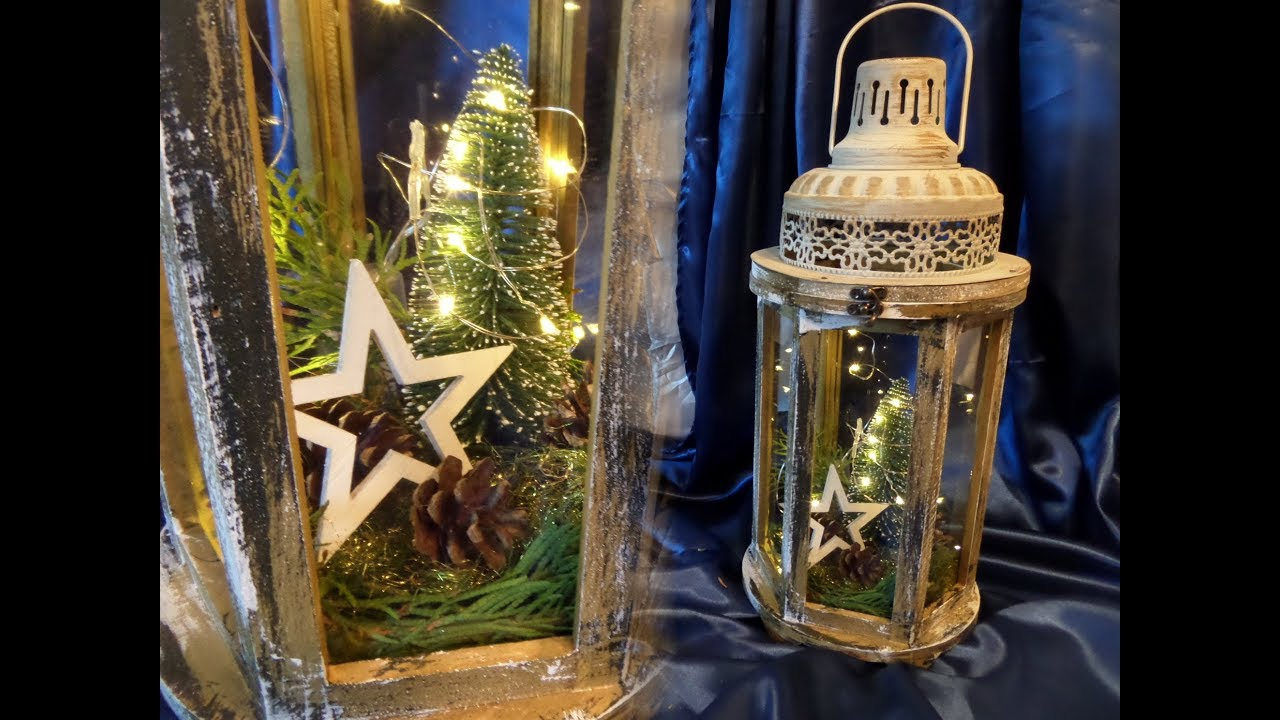 Diy Alte Laterne Im Neuen Licht Winter Deko Upcycling