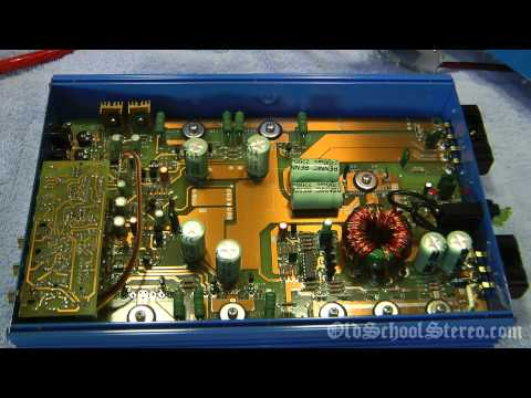 1998 Audio Art 2400 HO Car Amplifier Overviewed and Bench Tested Power Watts Volts RMS