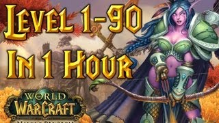 Level 1-90 In One Hour - World of Warcraft (Time-Lapse) WoW(, 2013-02-05T15:57:15.000Z)