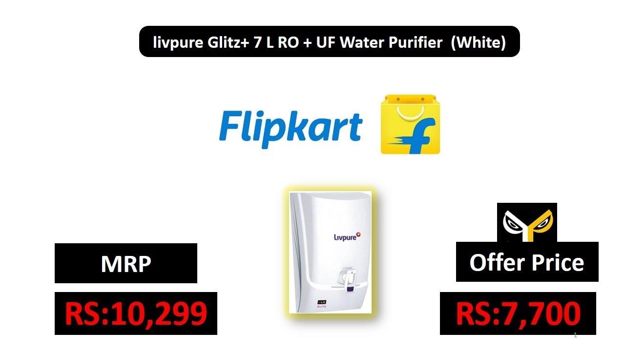 f585dea03e livpure Glitz+ 7 L RO + UF Water Purifier (White) - YouTube