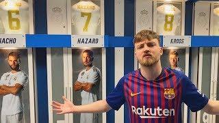 Santiago Bernabeu Stadiontour   Mit Barca Trikot in Real Madrid Kabine   ViscaBarca