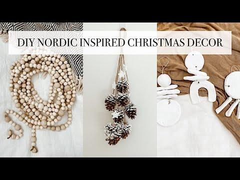 DIY Nordic Inspired Christmas Decor [easy minimalist christmas crafts]