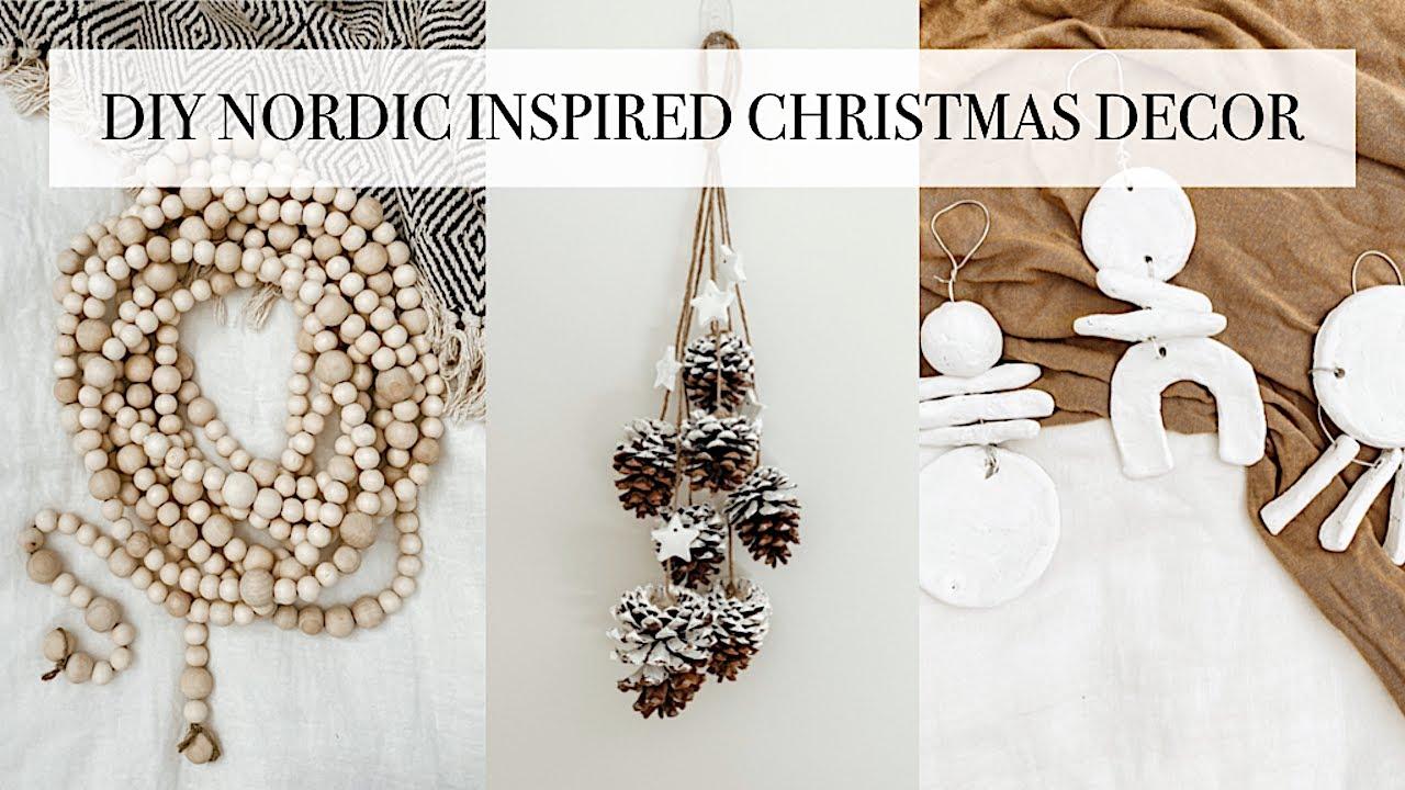 Diy Nordic Inspired Christmas Decor Easy Minimalist Christmas Crafts Youtube