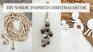 Diy Nordic Inspired Christmas Decor Easy Minimalist Christmas Crafts