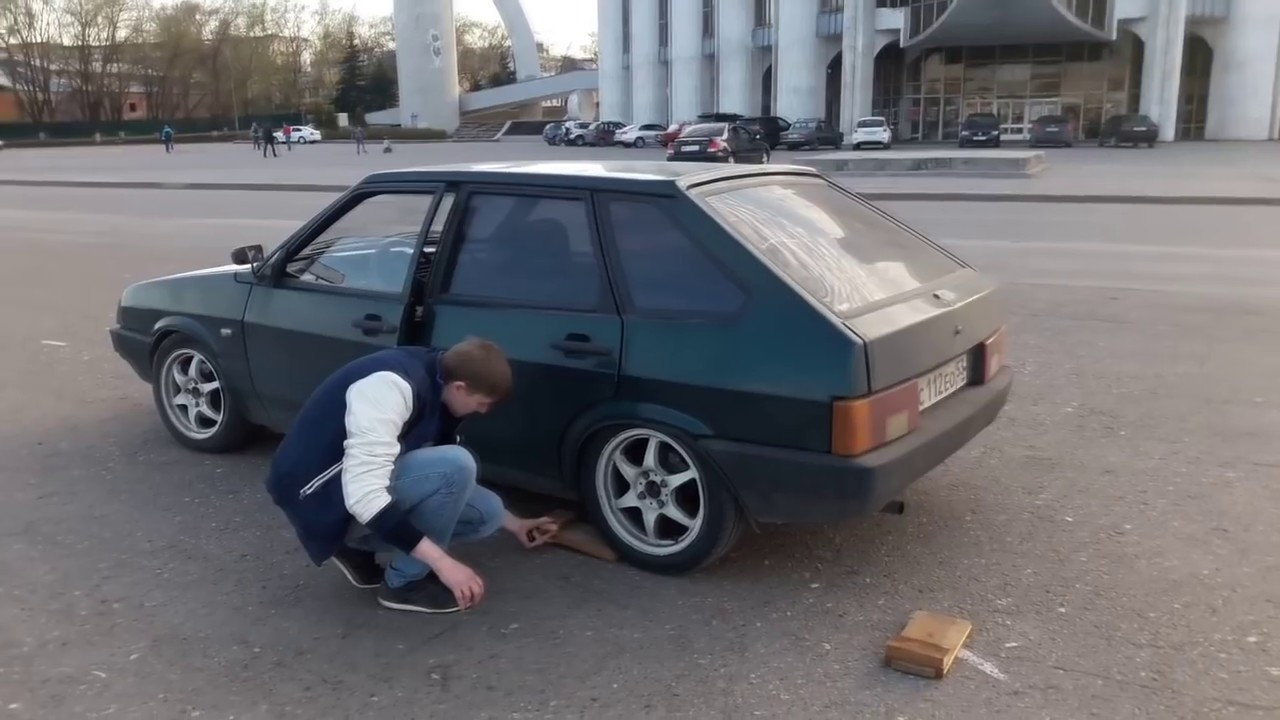 Боком на ДОСКАХ ВАЗ 2109