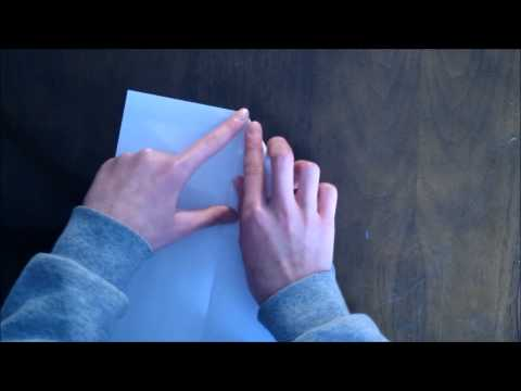 How To Make a Simple Paper Airplane-That works