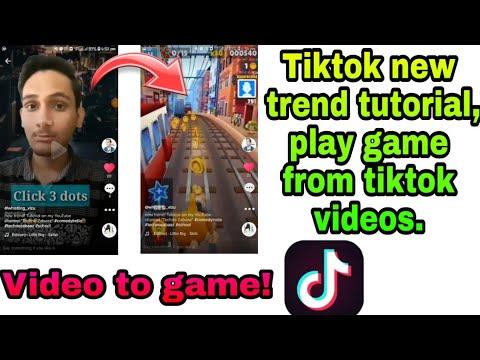 Tiktok new trend tutorial | Play game from tiktok videos | Increase likes ,  followers on tiktok