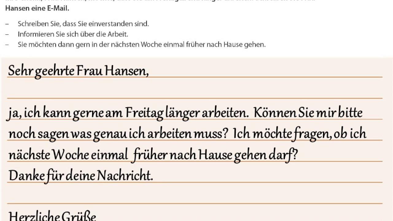 Goethe Zertifikat A2 Start Deutsch 2 Beispiele Schreiben Teil 1 Und 2 04 Youtube