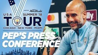 PEP GUARDIOLA PRESS CONFERENCE | Borussia Dortmund v Man City | US Tour 2018