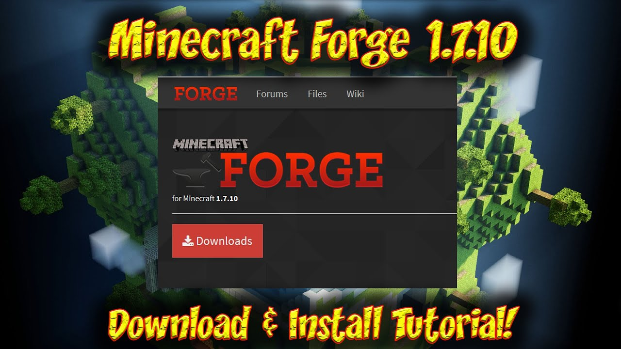 Minecraft forge [api] 1. 7. 10/1. 7. 2/1. 6. 4/1. 5. 2 | minecraft.