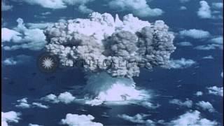 Underwater explosion occurs during nuclear test at Bikini Atoll, Micronesian Isla...HD Stock Footage