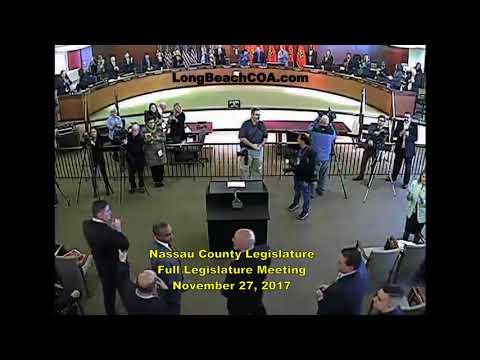 Nassau County NY Legislature Full Meeting 11/27/17