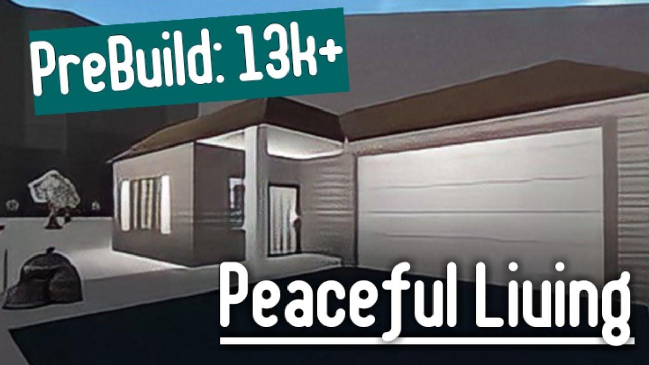 Building The PreBuild House (Peaceful Living) | Roblox Bloxburg (Christmas)
