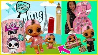 LOL Surprise Jet Set QT Doll /& Lil Jet Set QT /& Jet Set Hop Hop Bunny Family Toy