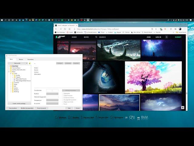 Personnaliser l'apparence de Windows avec le logiciel Rainmeter et le site DeviantArt