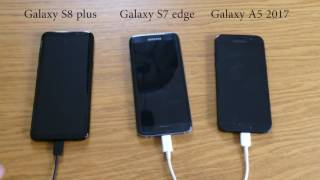 Samsung Fast Charging test. S8 plus vs S7 edge vs A5 2017.