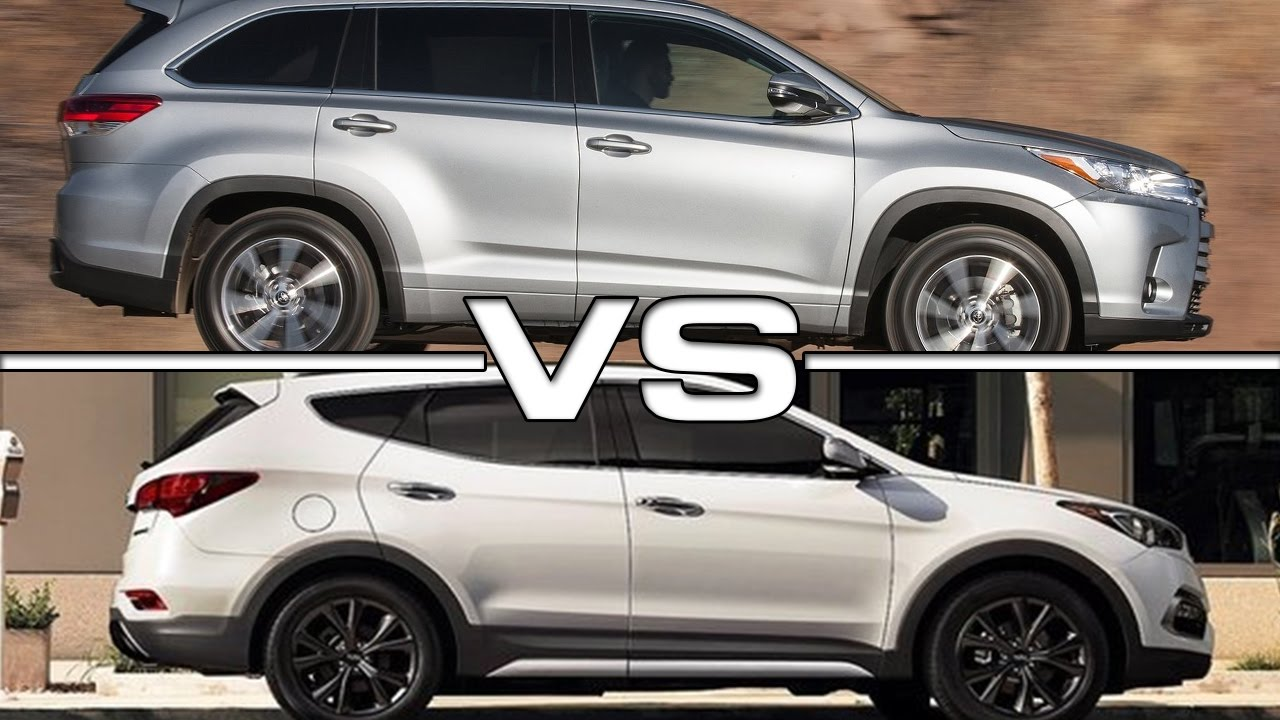 2017 Toyota Highlander vs 2016 Hyundai Santa Fe - YouTube