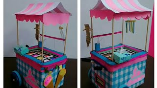 Miniature Ice cream Cart tutorial | Ice Cream Shop for kids | best from waste