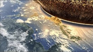 Asteroid impacting earth simulation
