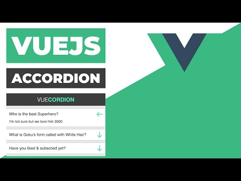 Easy VueJS Accordion - The Vuecordion thumbnail