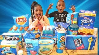 EATING ONLY BLUE FOODS FOR 24 HOURS Challenge!!!