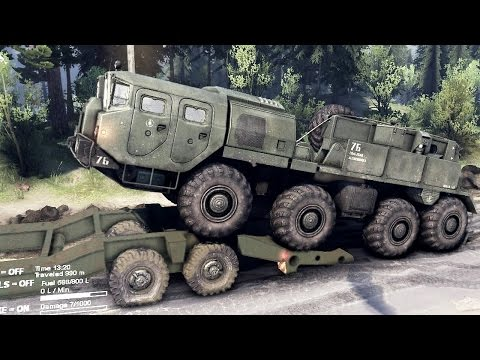 spintires-2014---the-coast-map---loading-the-maz-7310-on-a-trailer
