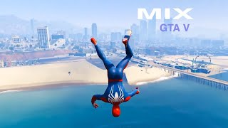 GTA V Water Ragdolls NEO & SPIDERMAN (GTA 5 Superhero Battle Euphoria Physics & Jumps/Fails) MIX
